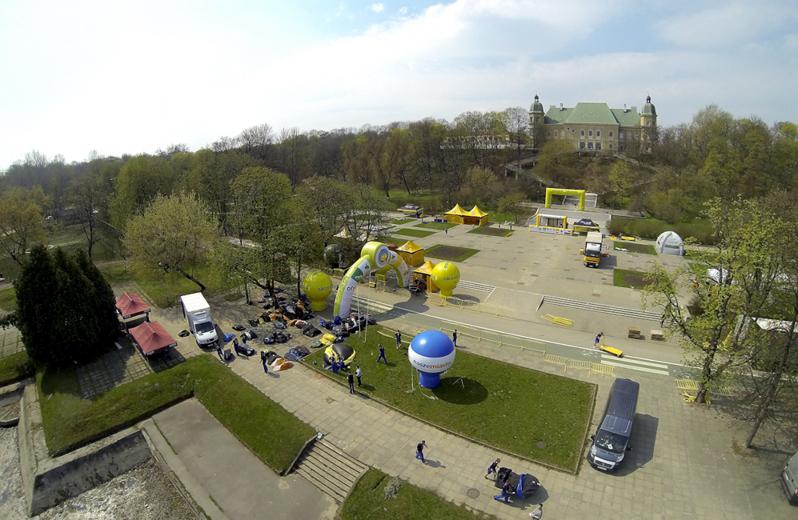 Skandia Maraton Warszawa z lotu ptaka
